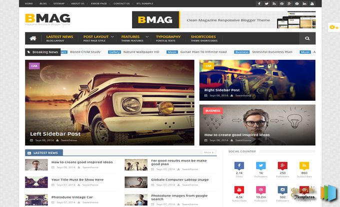 Create A 10 Unique article With Beautiful Blogger Site For You