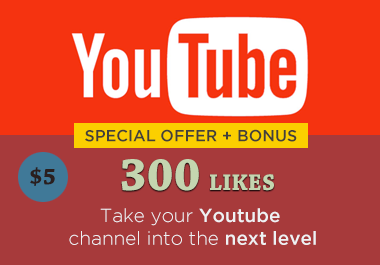 provide 300 likes for Youtube Video (with bonus)