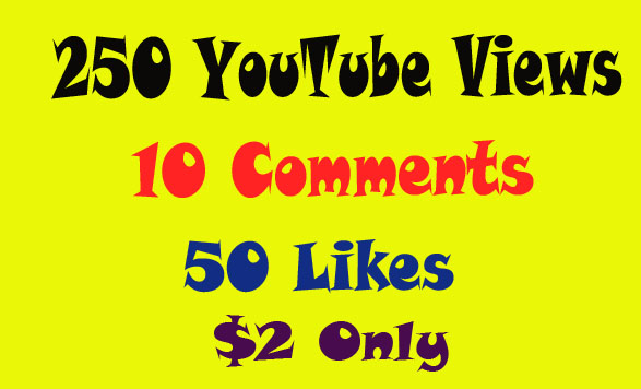 provide you 10 comments 50 likes 250 views to Youtube