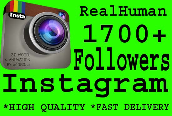 Promote 1700 Real Instagram Followers