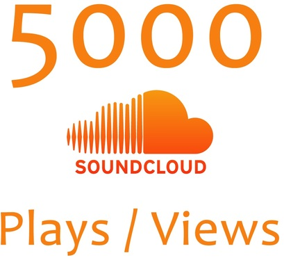 add over 5000 Real soundcloud plays