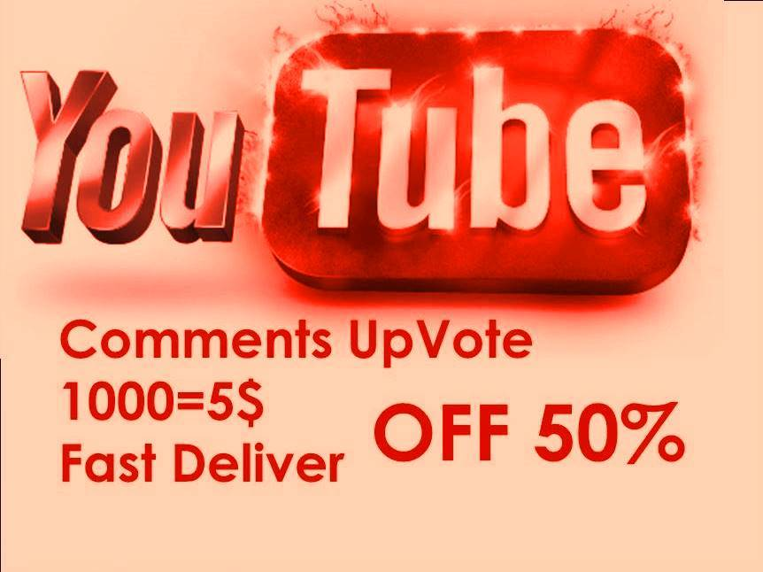 Give you 2000 Youtube Comment Upvote to any comment link