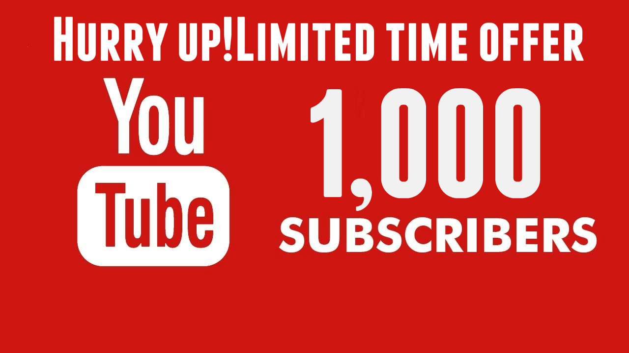 Give you YouTube Instant 1000 Subscribers (Auto-Refill, Instant)
