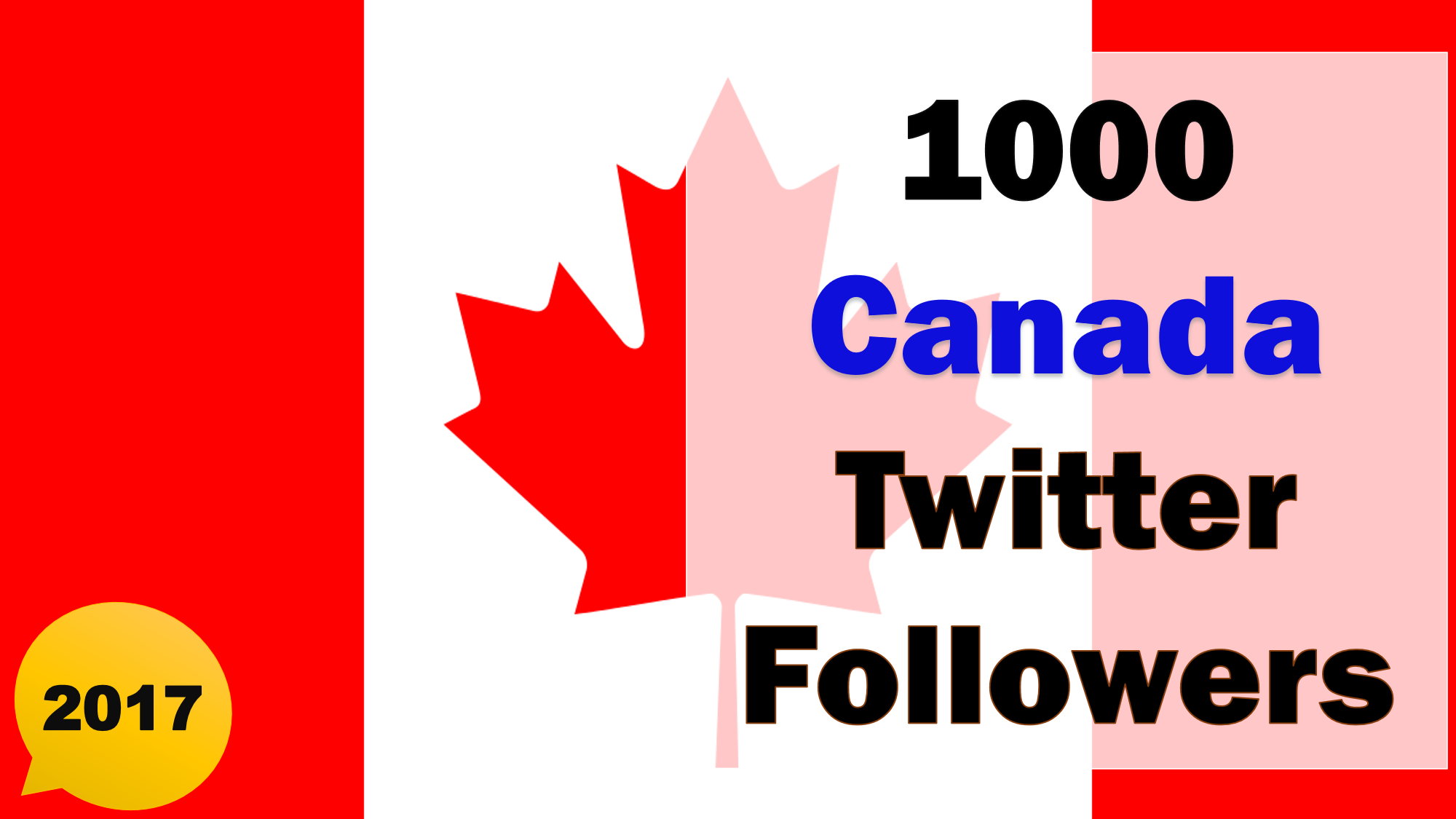 Promote and Provide 1000 Canadian Twitter Followers