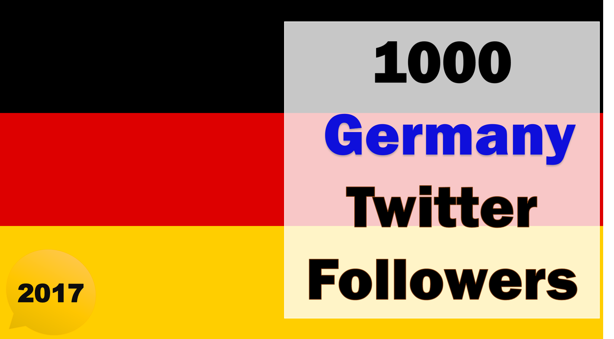 Promote and Provide 1000 Germany Twitter Followers