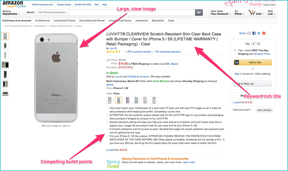 list 5 products of yours on amazon, eBay, etc.