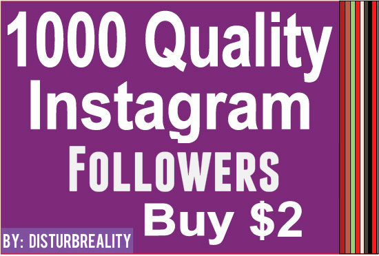 Give you 1000 Instagram Followers -[instant start]