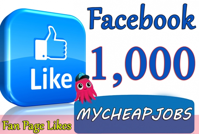 1000 facebook page,youtube likes for $5