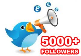 GIVE YOU 5,000+ HIGH QUALITY TWITTER FOLLOWERS