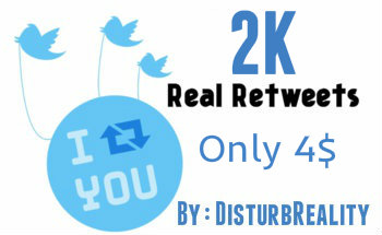 give you 2000 Twitter Retweets-[Instant Start]