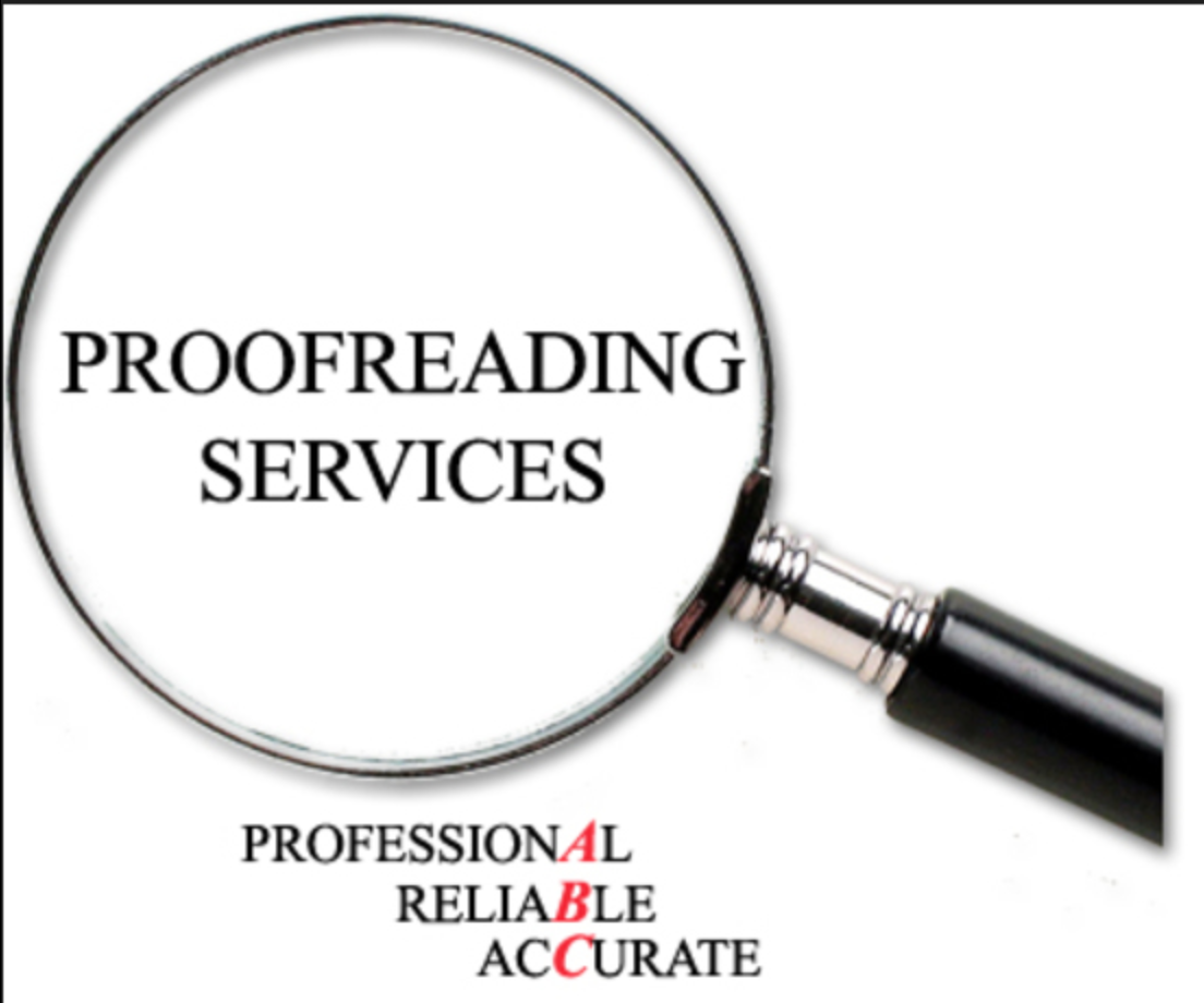 proofread and edit any type of literature, in English, up to 1500 charecters