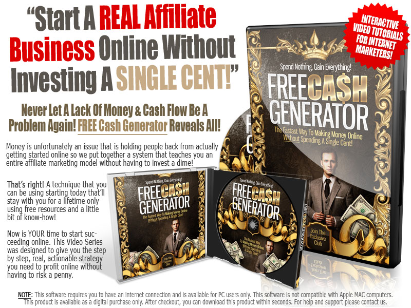 Free Cash Generator course In addition to two gifts