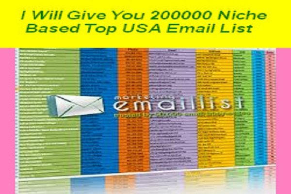 give you 200,000 (200K) Niche Based USA Email Marketing Lists 2017