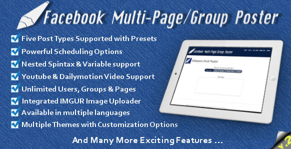 SHOW YOU Facebook Multi-Page & Group Poster
