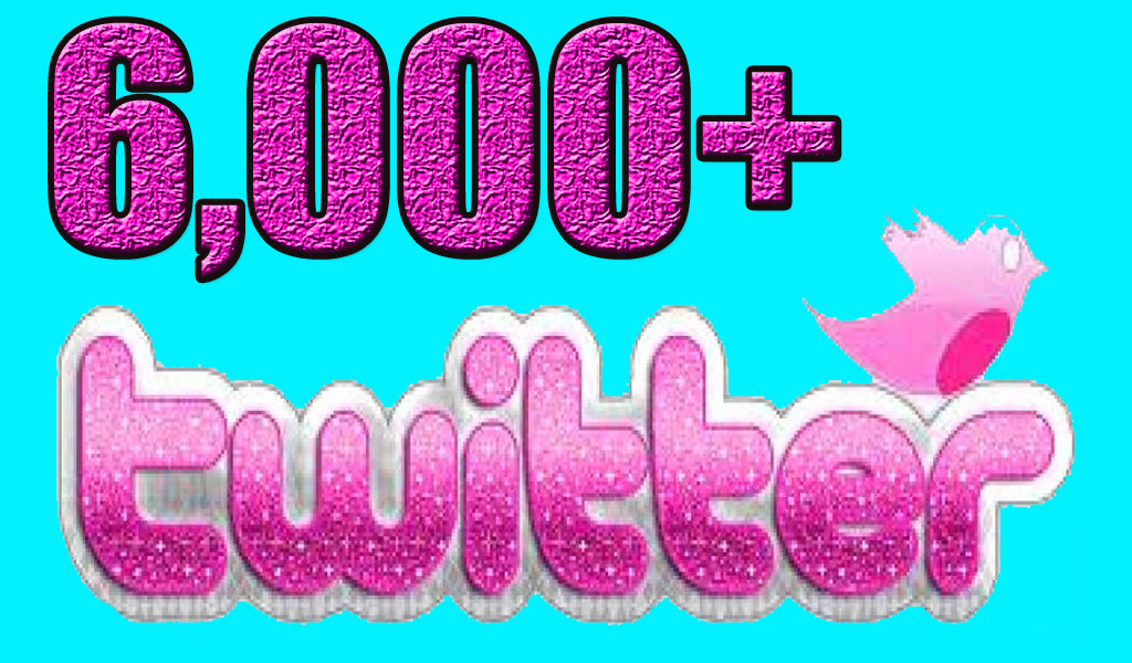 Get Permanent 6000 Twitter Followers Instant