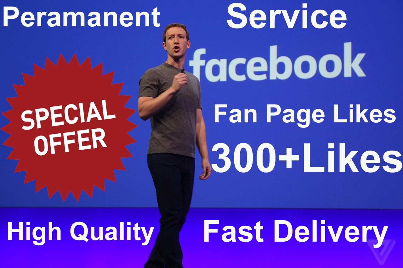 add 300 Real Facebook Page Likes