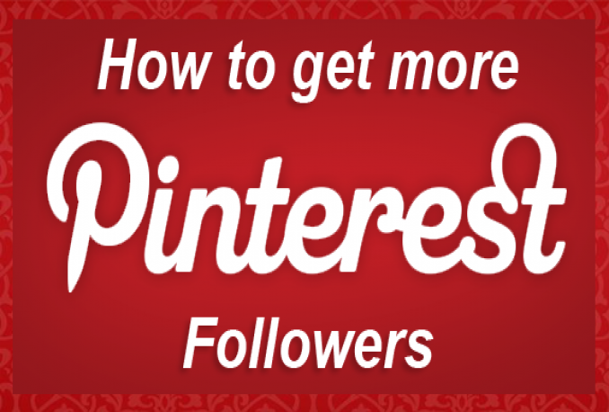 Give You Real & Non drop 100+ Pinterest Followers
