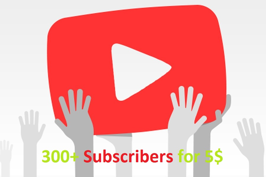 give + 300 High Quality YouTube Subscribers