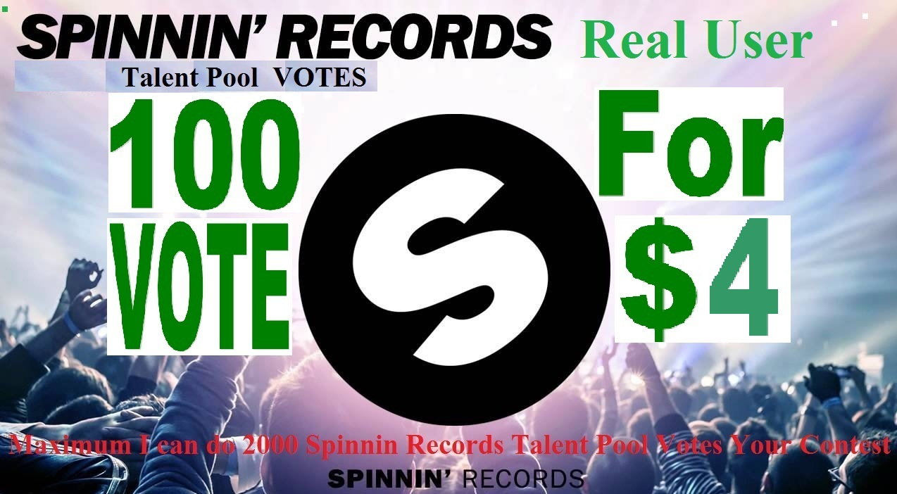 100 Spinnin Records Talent Pool Votes