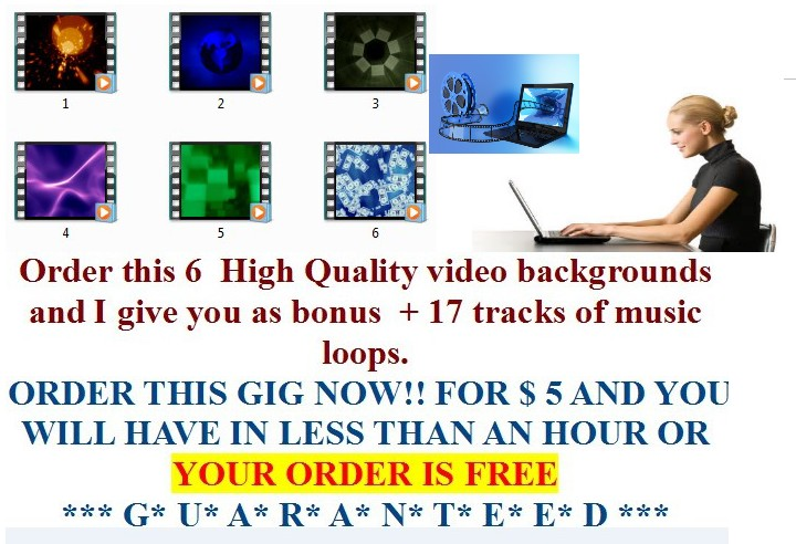 give you 25 animated  video backgrounds