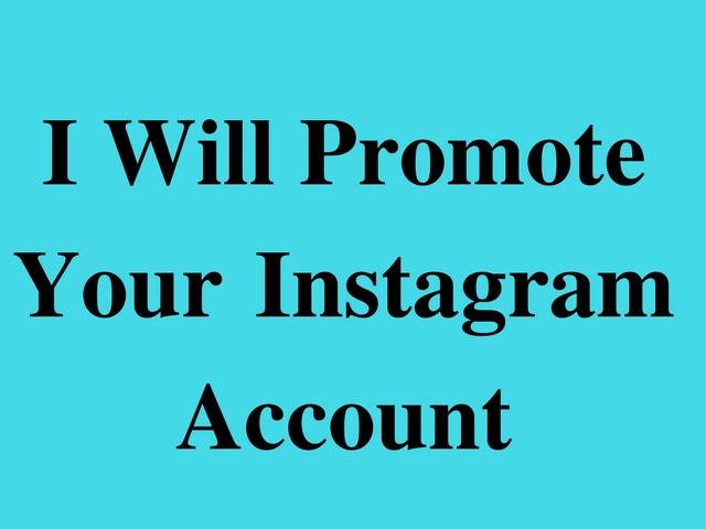 promote your Instagram Account