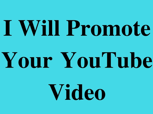 promote your YouTube Video