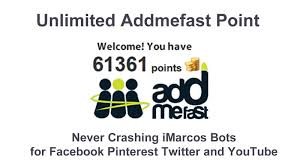 give you Addmefast 100 250 points per minute method