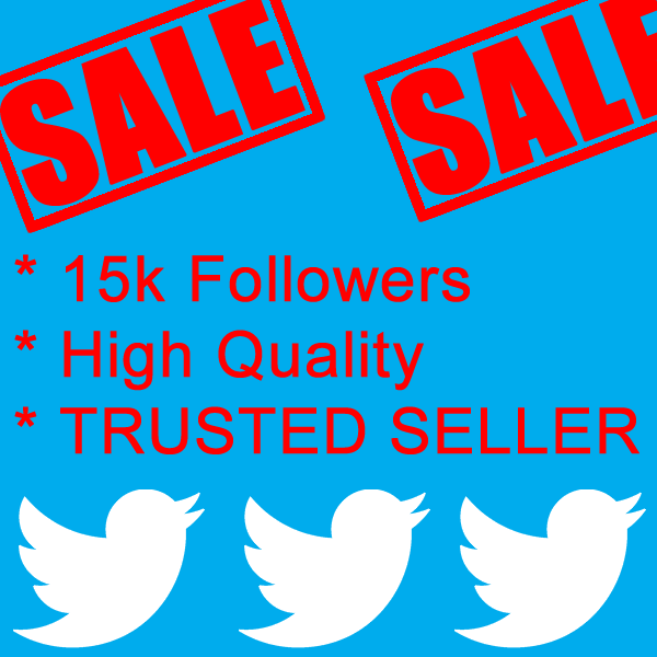 add 15000 Twitter Followers 15K in 72 Hours for $25 - High Quality - Great Service - Fast Delivery - 100% SAFE