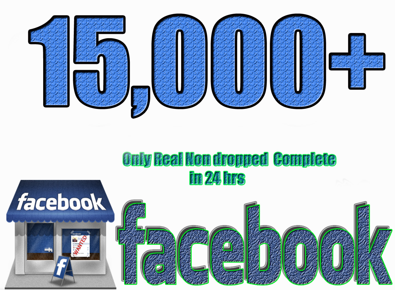 Gives you 15,000+Instantly started PERMANENT Active Facebook likes