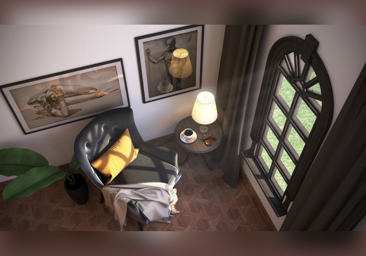 Create a photorealistic render of your place