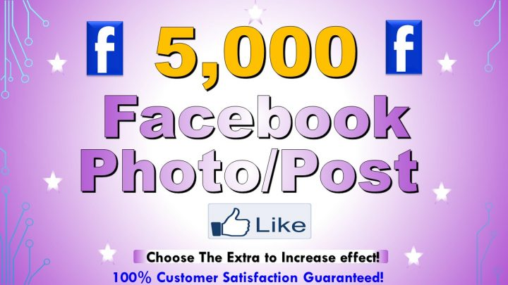 Get 5,000+ Facebooke Photo/Post Like, Non Droop and Active User to develop in social Media/business and Ranking