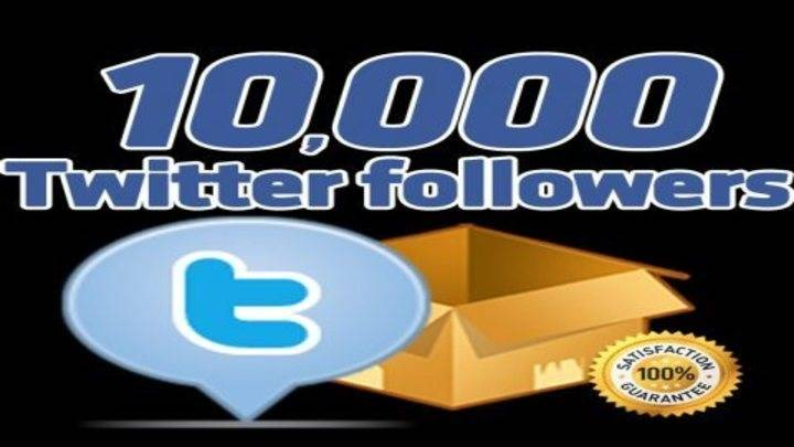 10,000+ High Quality Twitter Followers