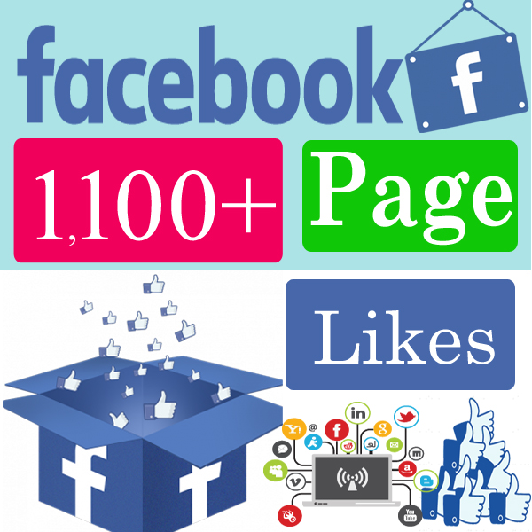 Give you 1100 facebook page Likes