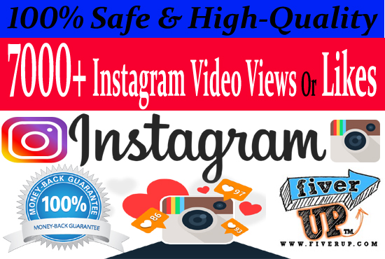 add 7,000 Instagram Video Views OR likes