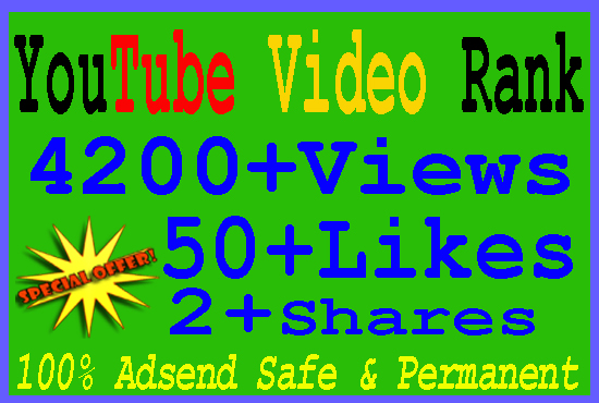 Give You 4200+ YouTube Real Views