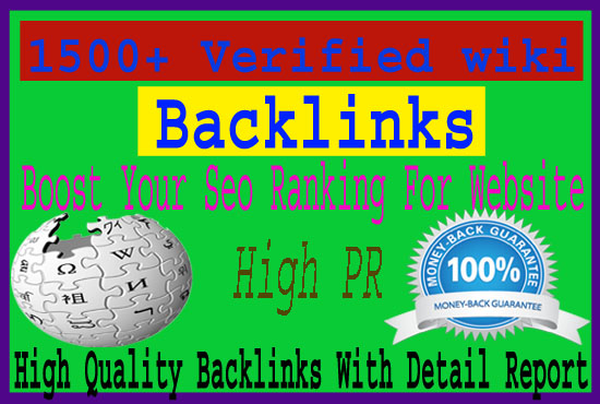 Submit Your Site In 1500 High Authority Wiki Articles Contextual Backlinks