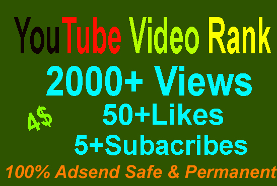 promote Youtube Video views to Real Active Audience