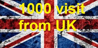 1000 UK TARGETED traffic to your web or blog site. Adsense safe and Good Alexa rank