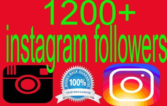 give you real 1200+ INSTAGRAM FOLLOWERS