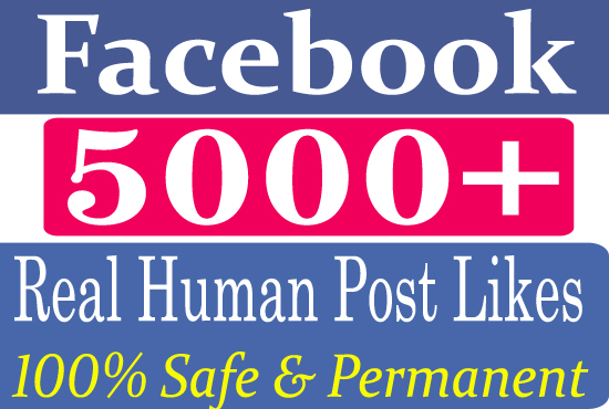 Give You 5000+ Real Facebook Post Likes