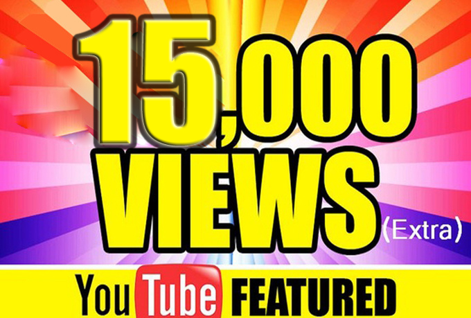 Guaranteed NonDrop 15,000 YouTube Video Views Only