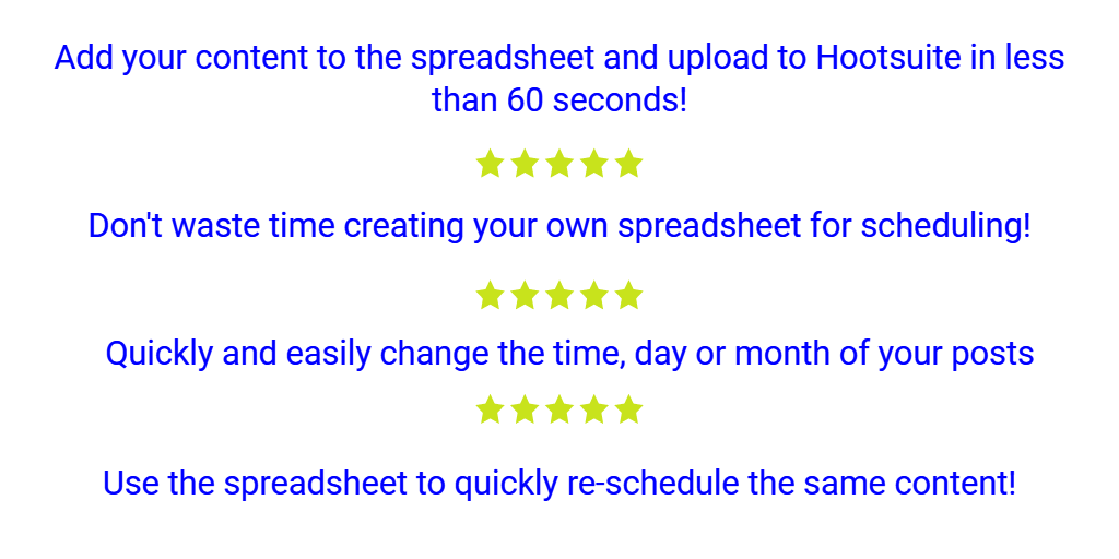 Provide A 12 Month Bulk Scheduling Template For Hootsuite