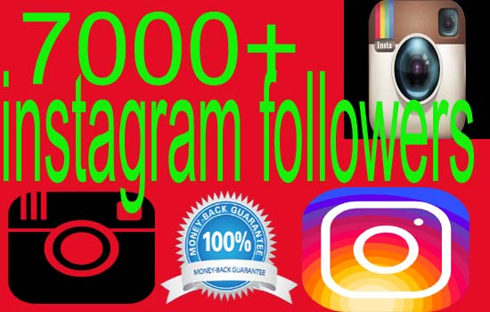 give 7000+ real Instagram Followers [High Quality]
