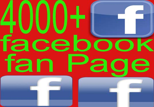 GIVE 4000 facebook fan Page likes with Real Human user
