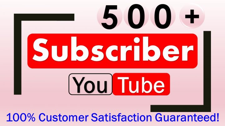Promote 500+ YouTube-Subscriber in your Channel, Non Drop, Real & Active User