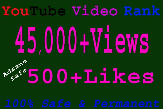 Give you Real 45,000 youtube views