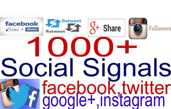 give your 1000+ Social Signals