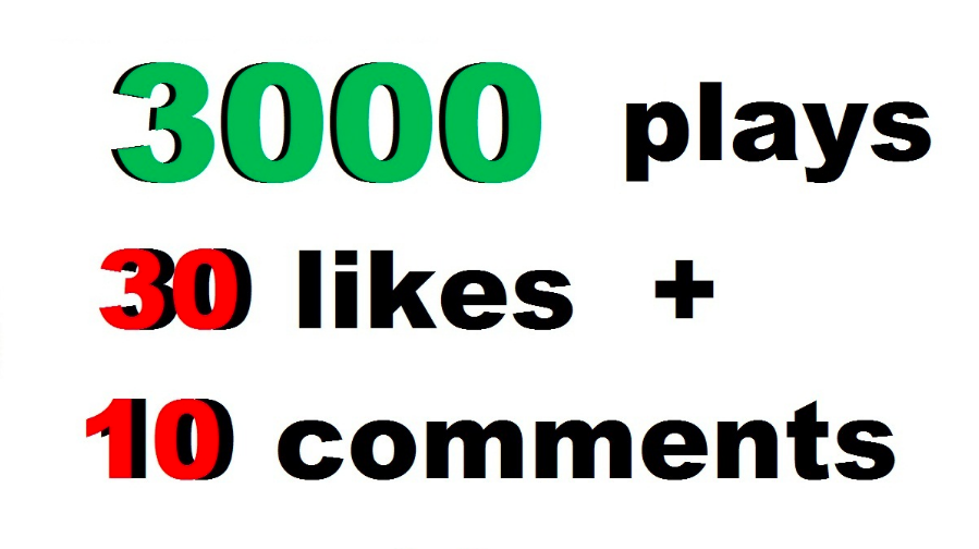 3000 soundcloud plays 30 likes 10 comments just 24 hours