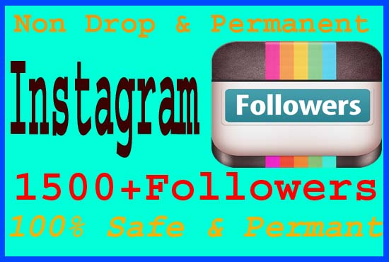 give you 1500+ Real Instagram Followers