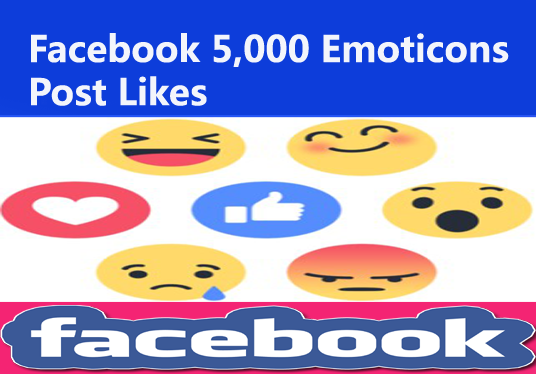 Add you Real Facebook 5000 Emoticons Post Likes